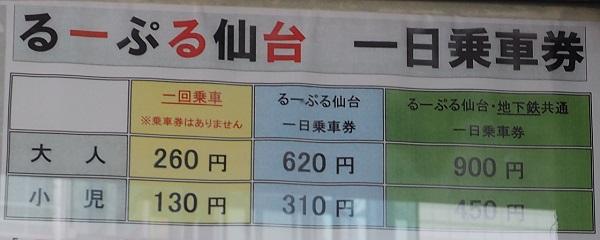 るーぷる料金表