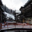 銀山温泉の日中の風景