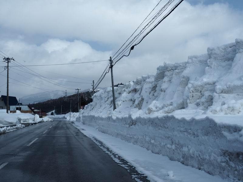 尾花沢市の雪の状況