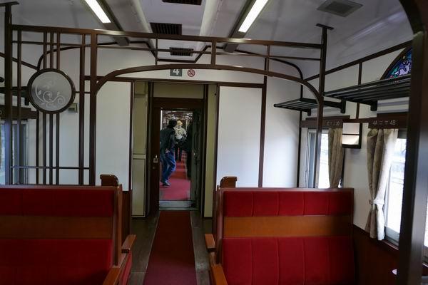 SL銀河の客車内部の写真