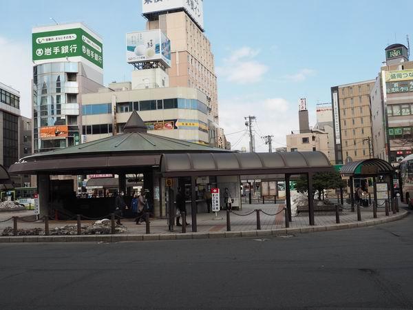 盛岡駅のバスの切符売り場の写真