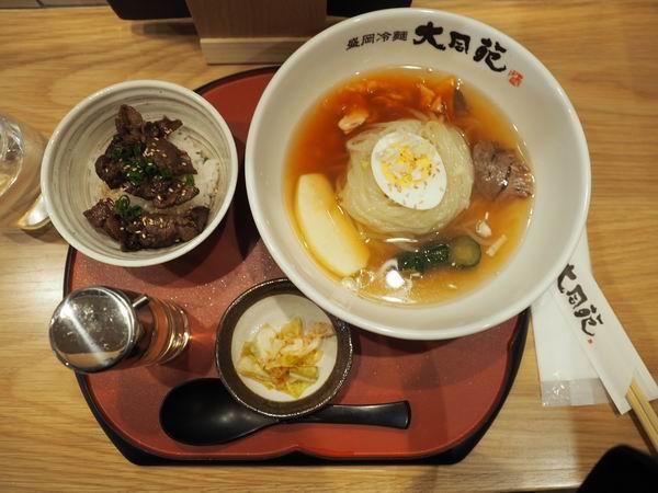 盛岡冷麺のランチ