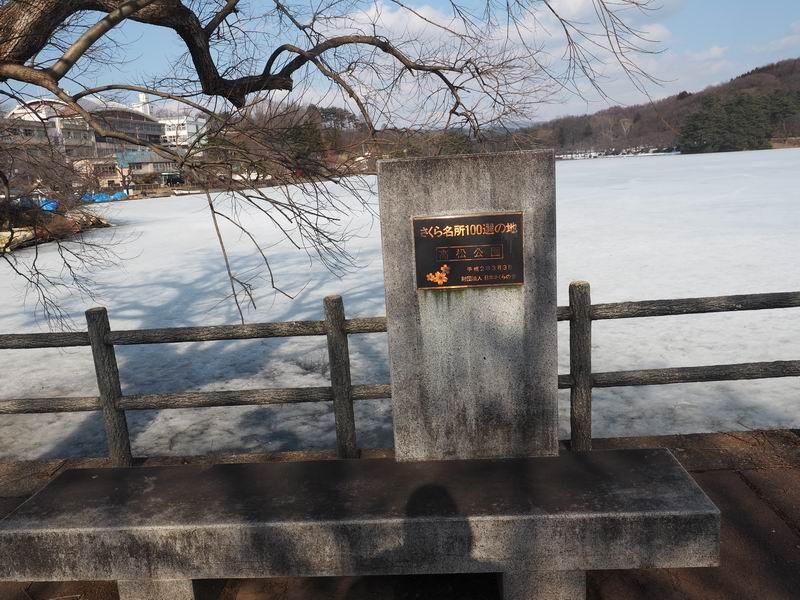 高松公園の日本桜の名所100選の証明写真