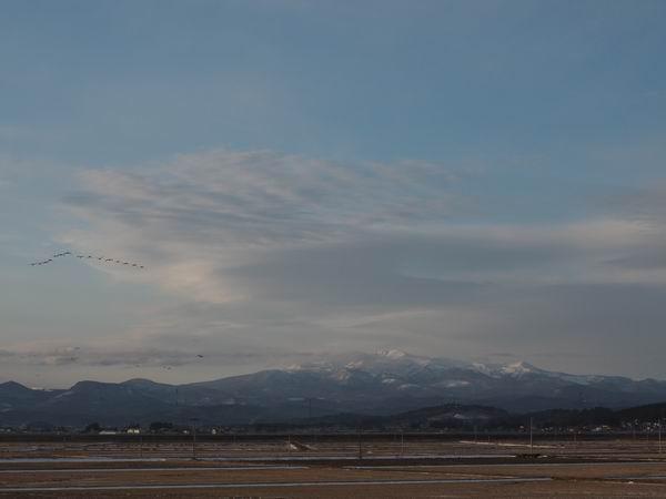 栗駒山の全景