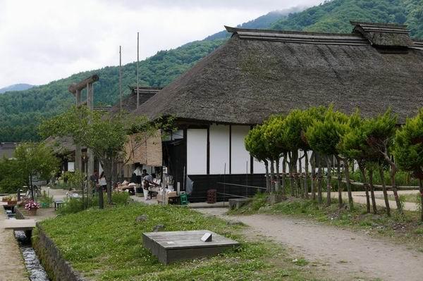 大内宿の夏の風景写真