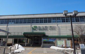北上駅の東口の全景