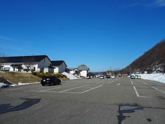 北上展勝地の駐車場の風景写真