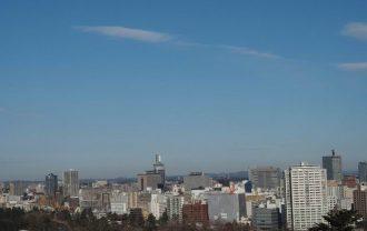 青葉城址公園から見た仙台市内の風景写真