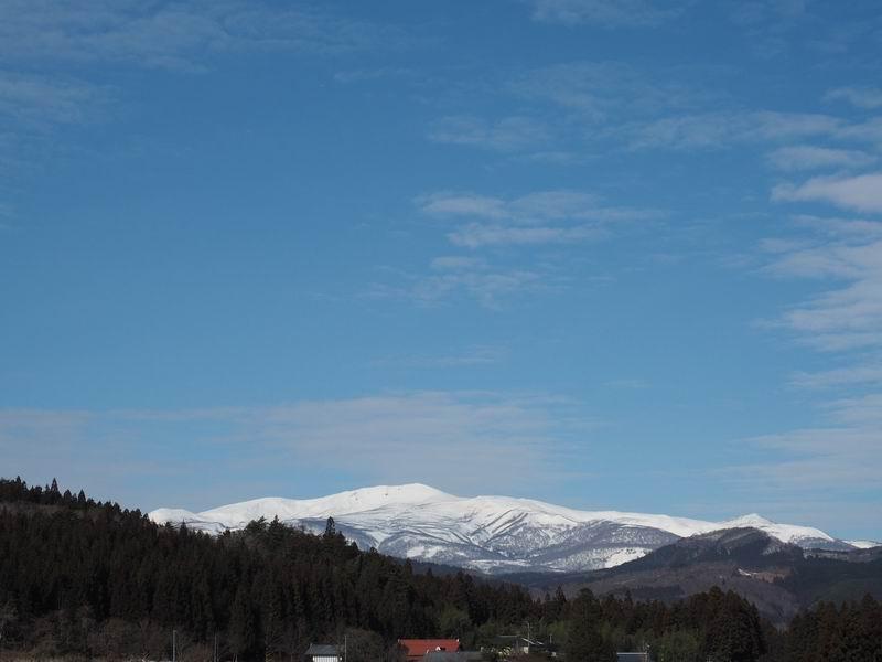栗駒山の冬の風景写真