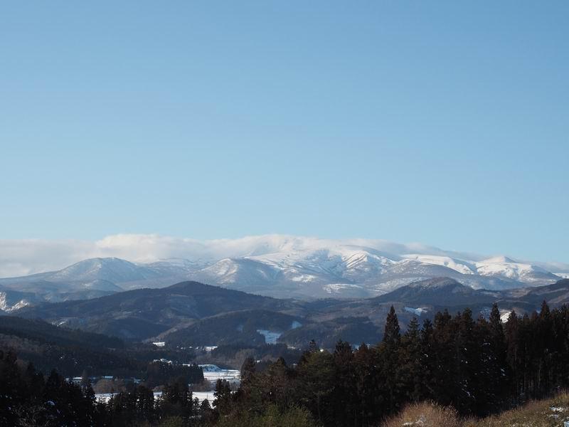 栗駒山の冬の風景