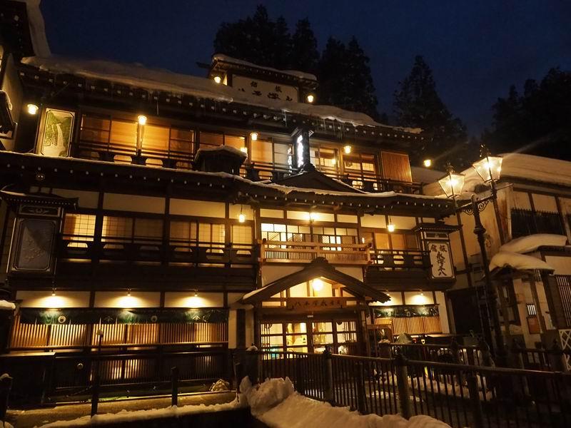 旅館 永澤平八の夜の風景
