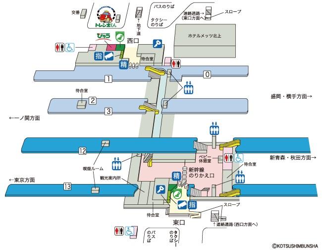 北上駅構内図