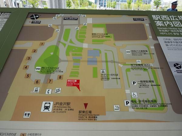 金沢駅西口のレイアウト図の写真