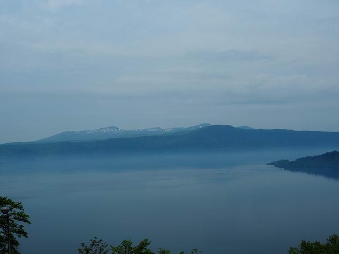 発荷峠展望台の十和田湖の眺望写真2