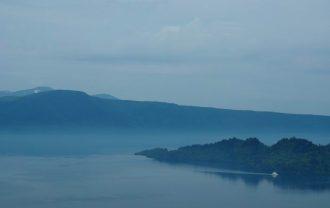 発荷峠展望台の十和田湖の眺望写真6