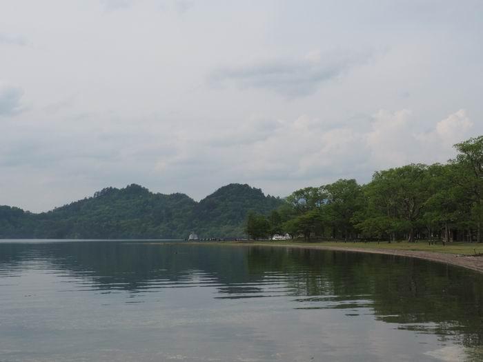 十和田湖の夏の風景写真