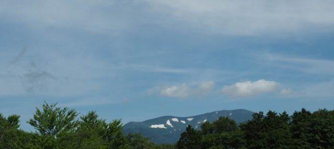 栗駒山の夏7月の風景写真