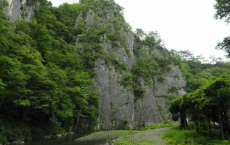 猊鼻渓舟下りの風景写真