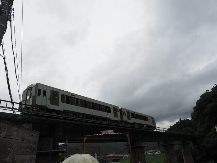 大船渡線猊鼻渓駅付近の陸橋の写真
