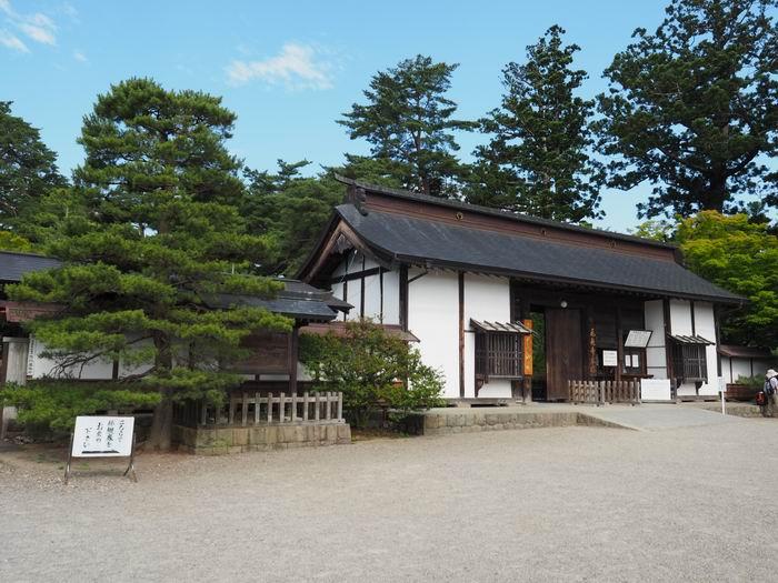 毛越寺初夏の風景正門の画像