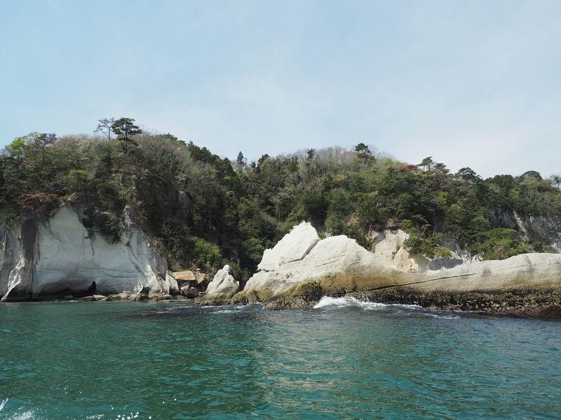 嵯峨渓遊覧船からの風景