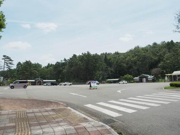 宮沢賢治童話村の駐車場の風景写真