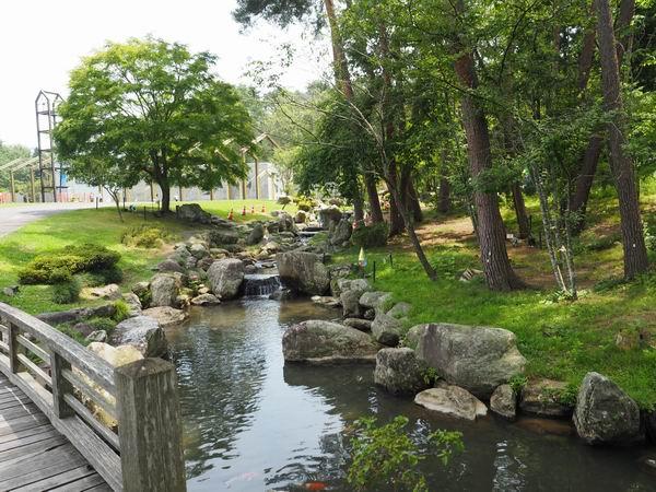 宮沢賢治童話村のすぐ右側の池