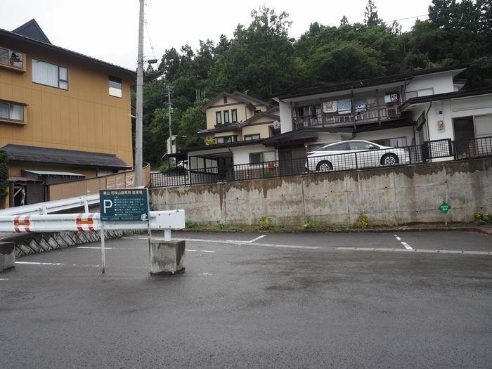 花咲山展望台の駐車場の風景写真