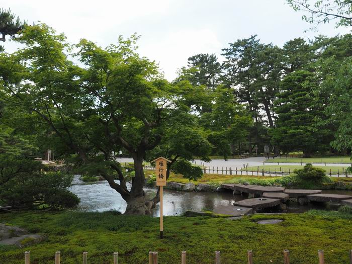 兼六園の雁行橋の風景写真