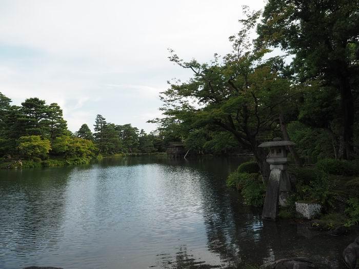 兼六園の霞ヶ池の風景写真