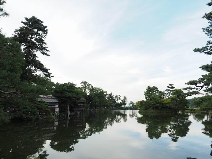 兼六園霞ヶ池の風景写真