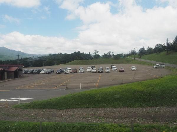 リゾートパーク鬼首の第一駐車場の風景