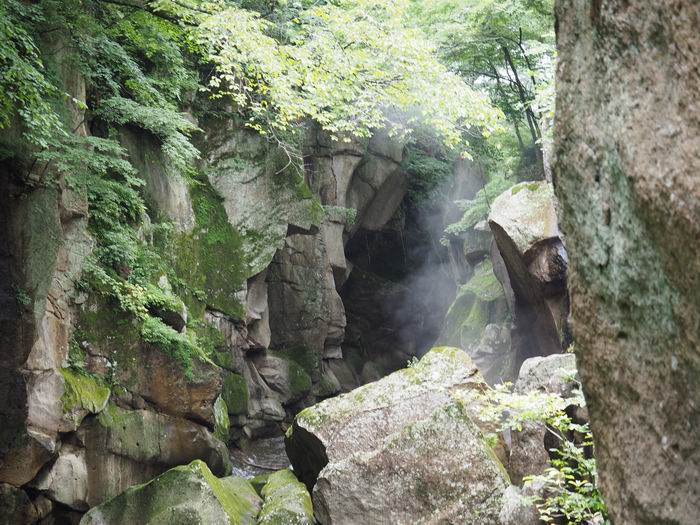 磊々峡の見晴らし台からの風景写真