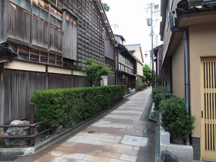 金沢ひがし茶屋街の風景夏の写真画像