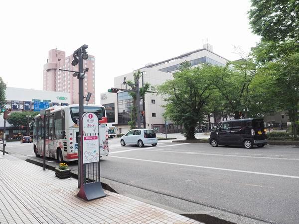 金沢観光香林坊のバス停の風景写真
