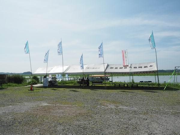 伊豆沼ハス祭り1の乗り場の風景写真