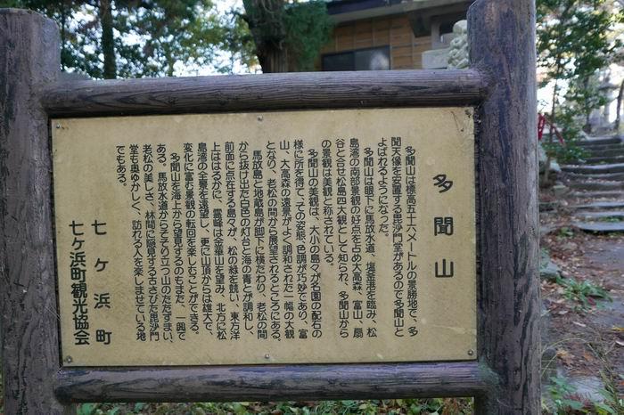 多聞山の説明看板の写真