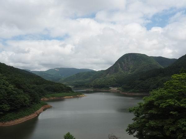 鳴子ダムの7月の夏の風景写真