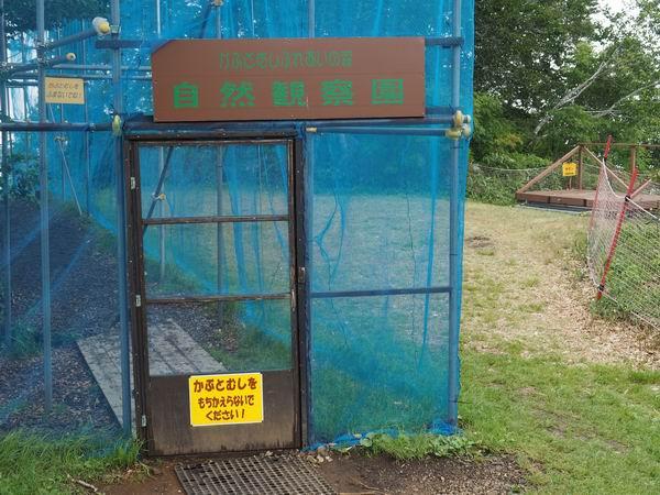 カブトムシ自然観察園の入り口風景写真