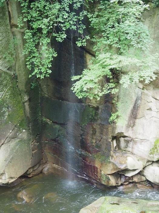 磊々峡時雨滝の風景写真