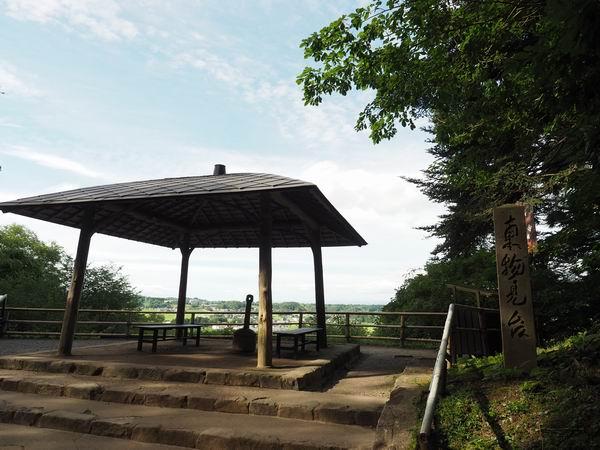 中尊寺月見坂の東物見台の風景写真