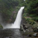 秋保大滝の夏の滝つぼの風景写真画像