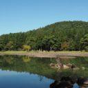毛越寺の初秋の風景写真