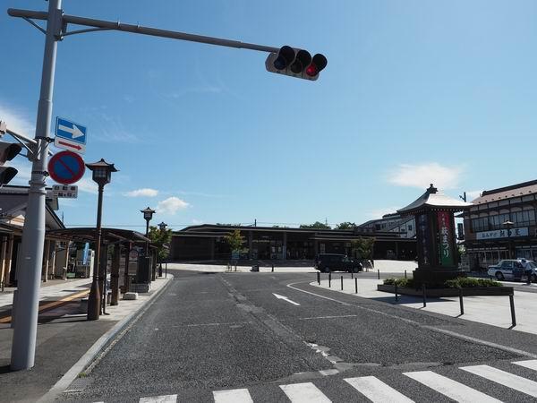 平泉駅の正面から見た写真です