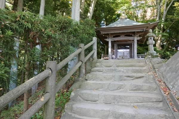 高館義経堂のお堂の風景写真