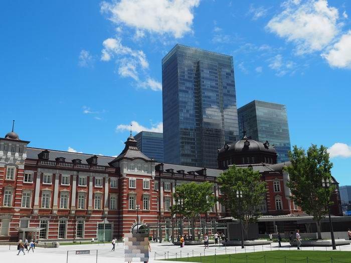 東京駅の丸の内南口ドームの風景写真