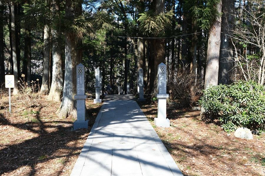xt3で撮影する秋保大滝の冬の風景写真瀧見台までの遊歩道の写真