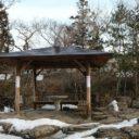x-t3で撮影した冬の厳美渓の風景写真休みどころ