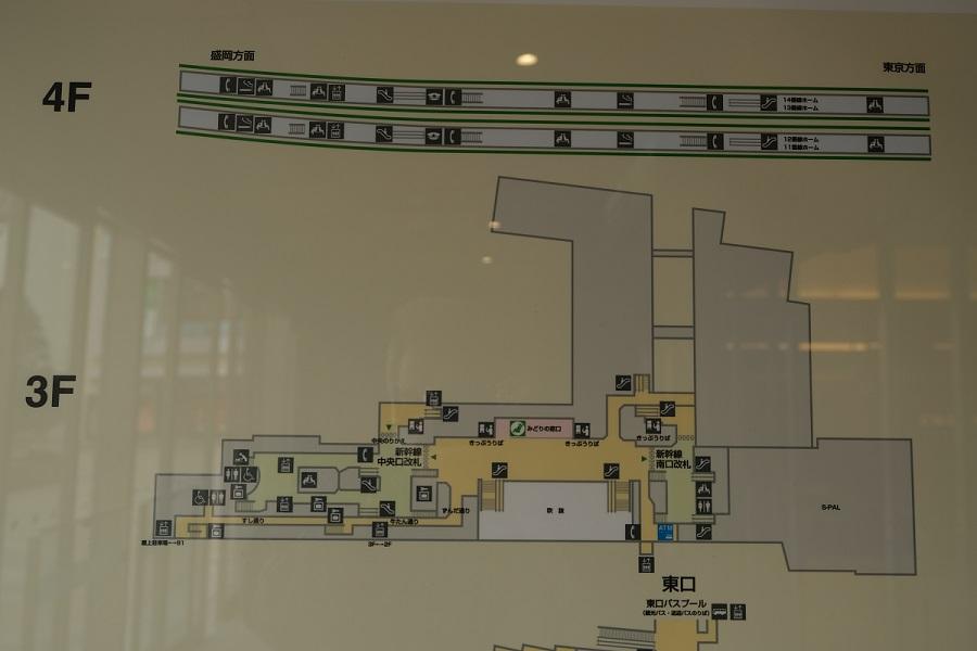 仙台駅構内図三階の写真