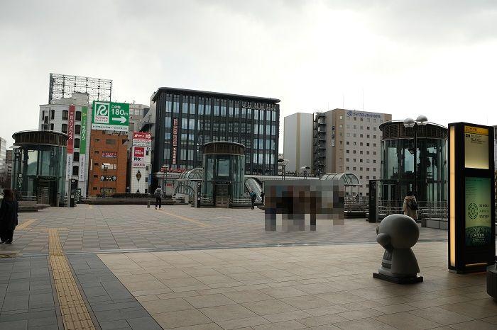仙台駅の構内東口の風景